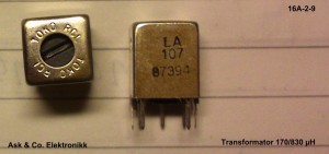 Transformator 170-830microH